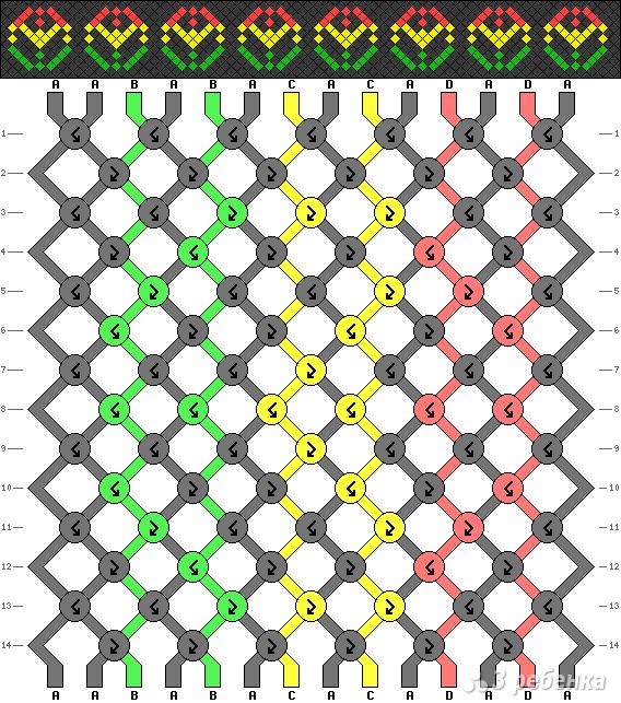 Схема фенечки 2048