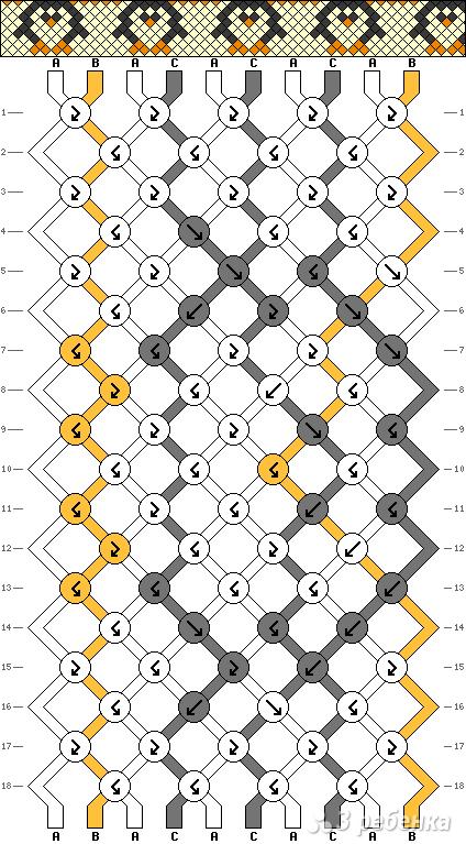 Схема фенечки 1244