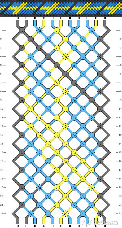 Схема фенечки 2232