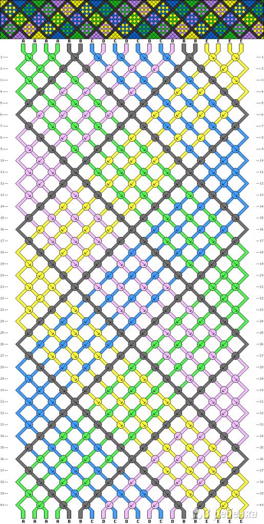Схема фенечки 2336