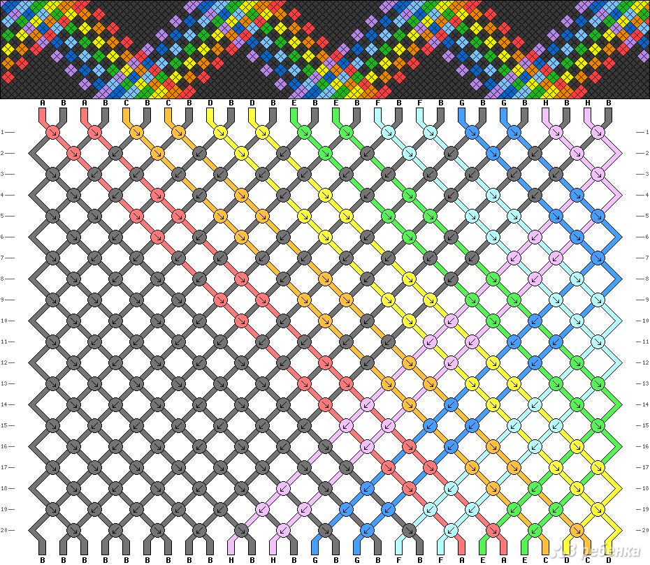 Схема фенечки 2578
