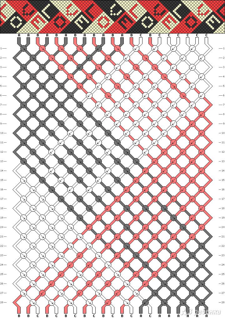 Схема фенечки 2660