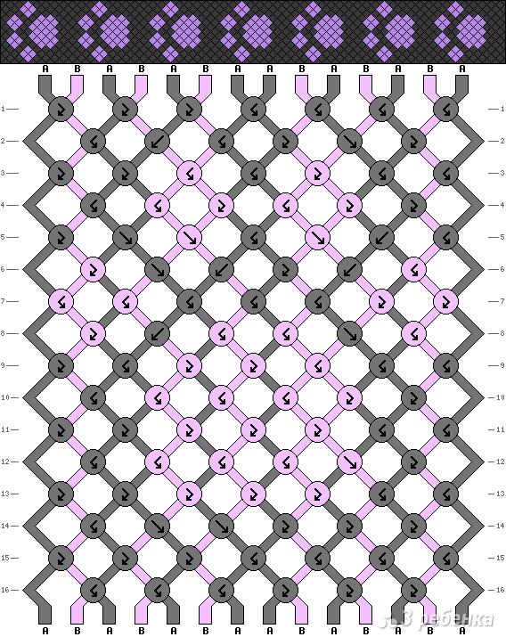 Схема фенечки 2354