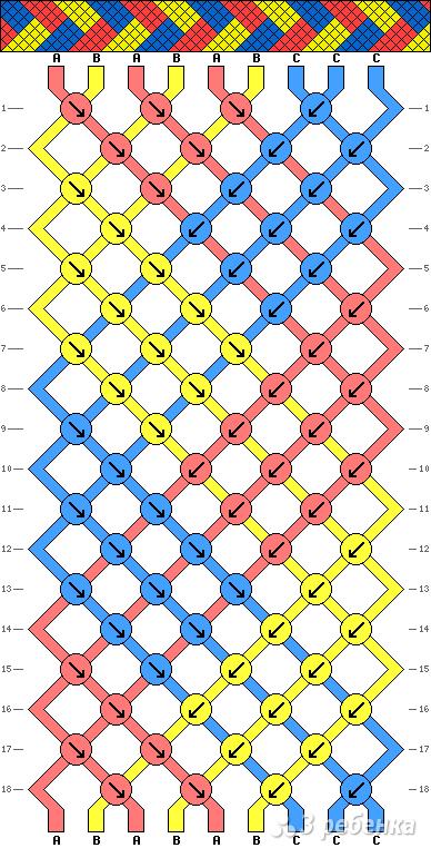 Схема фенечки 1199