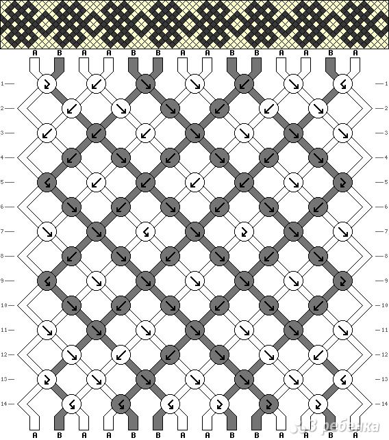 Схема фенечки 2131