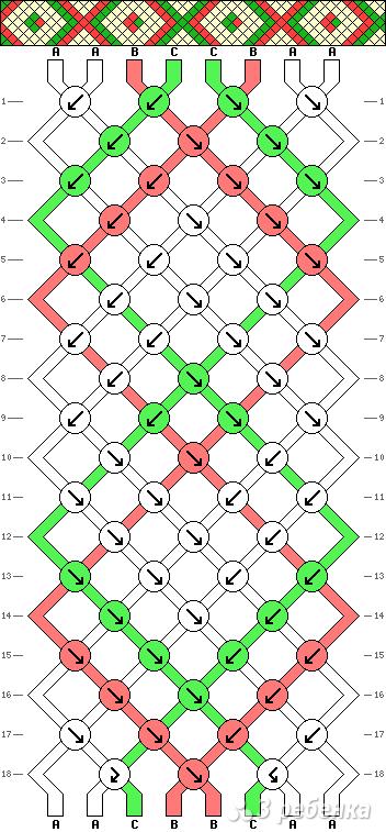 Схема фенечки 2033