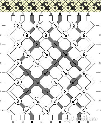 Схема фенечки 1440