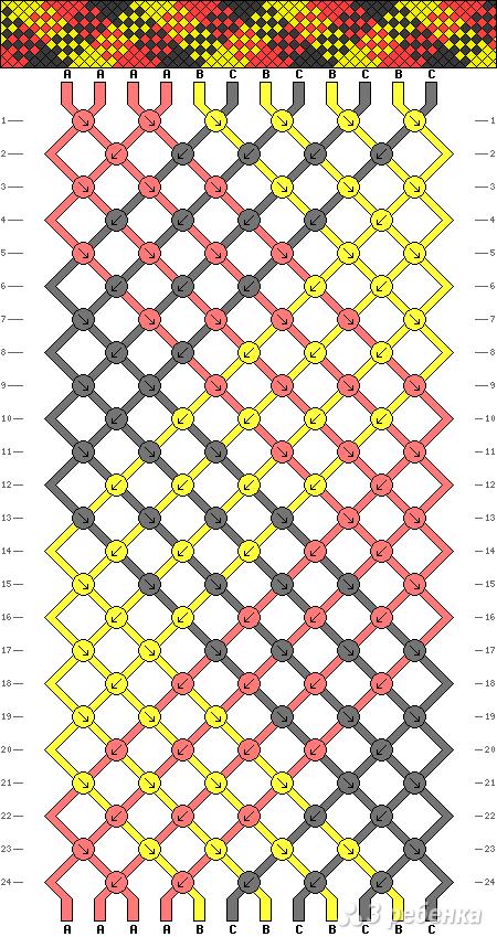 Схема фенечки 2240