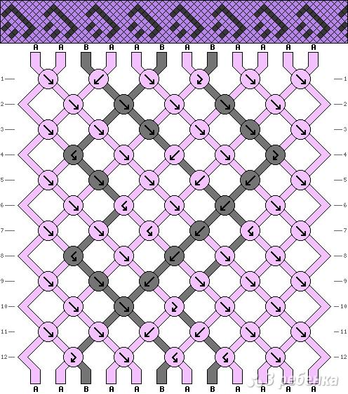 Схема фенечки 2305