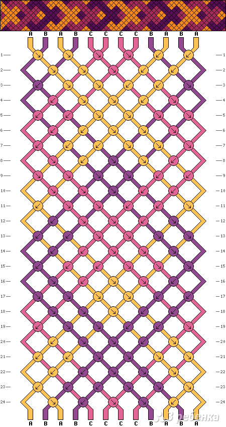 Схема фенечки 1886