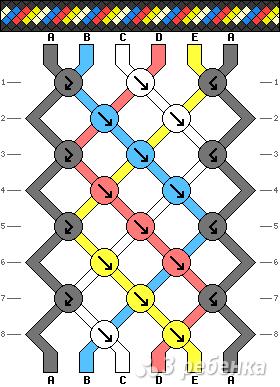 Схема фенечки 2409