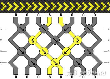 Схема фенечки 1487