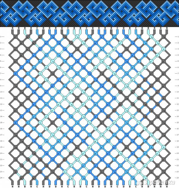 Схема фенечки 2263