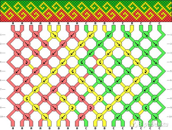 Схема фенечки 1399