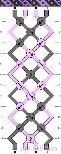 Схема фенечки 1635