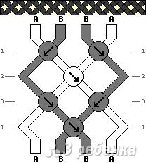 Схема фенечки 1693