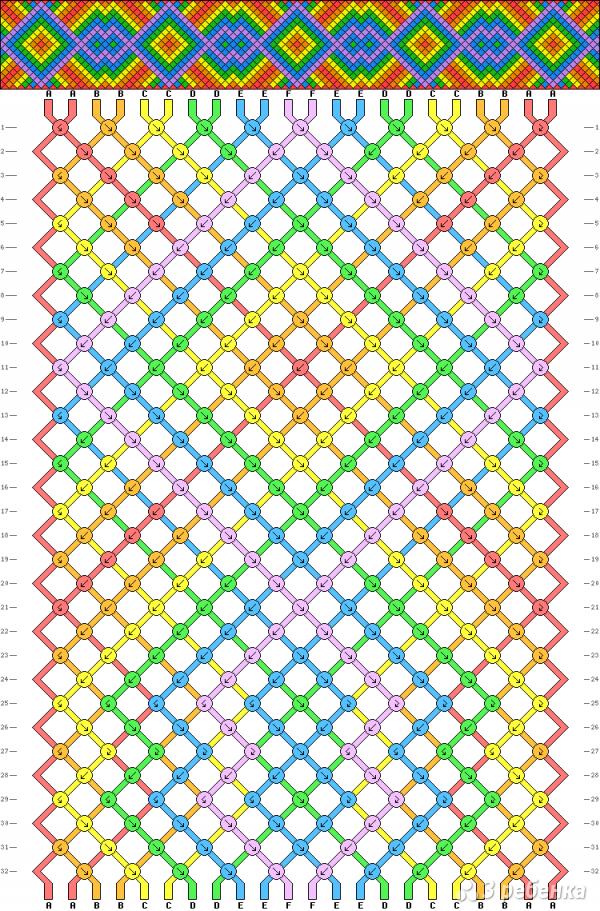 Схема фенечки 3247