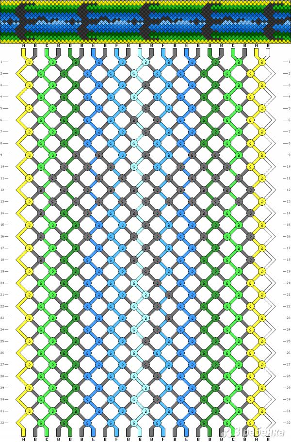 Схема фенечки 2946
