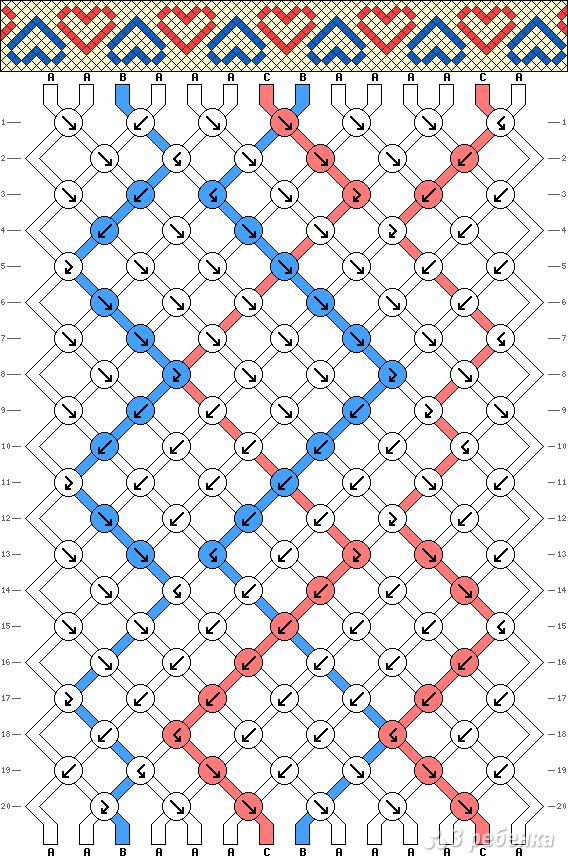 Схема фенечки 2819