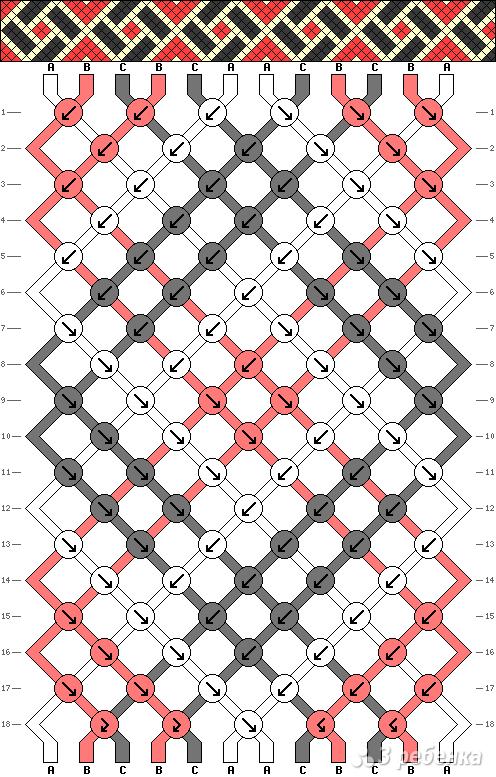 Схема фенечки 2925