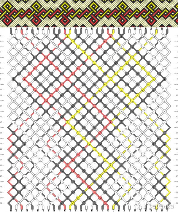 Схема фенечки 2910