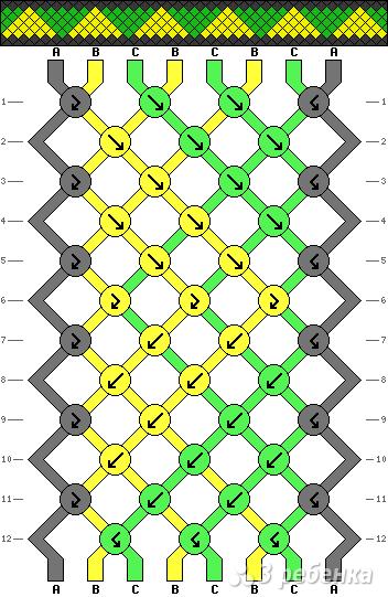 Схема фенечки 3158