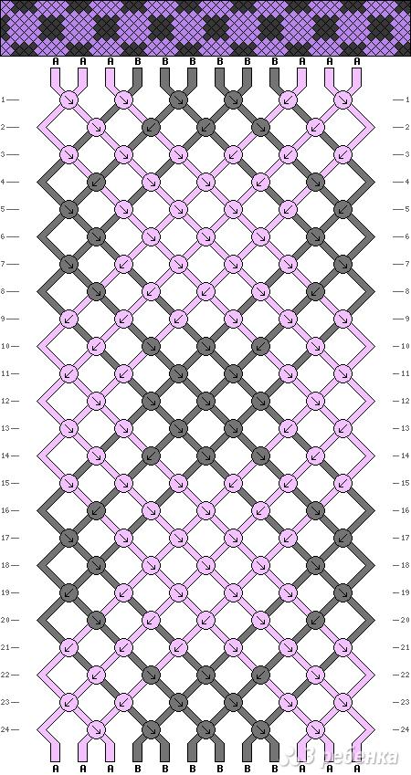 Схема фенечки 3353