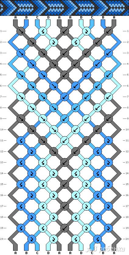 Схема фенечки 2899