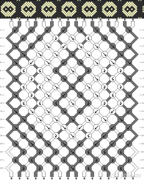 Схема фенечки 3186