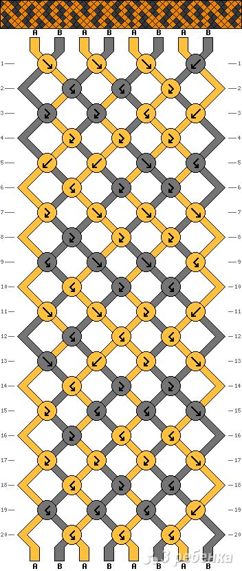 Схема фенечки 3124