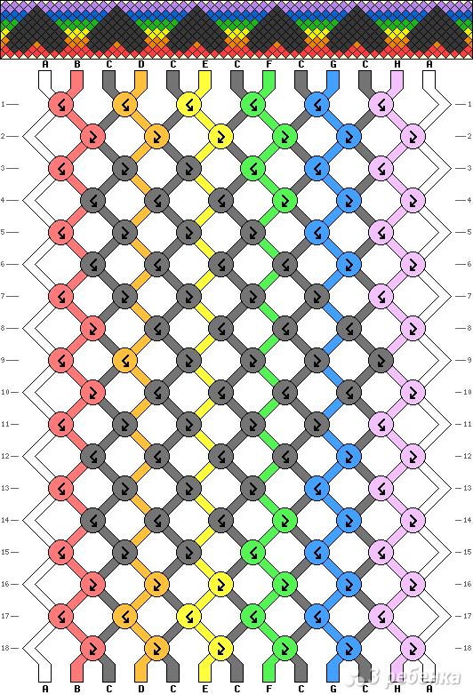 Схема фенечки 2788