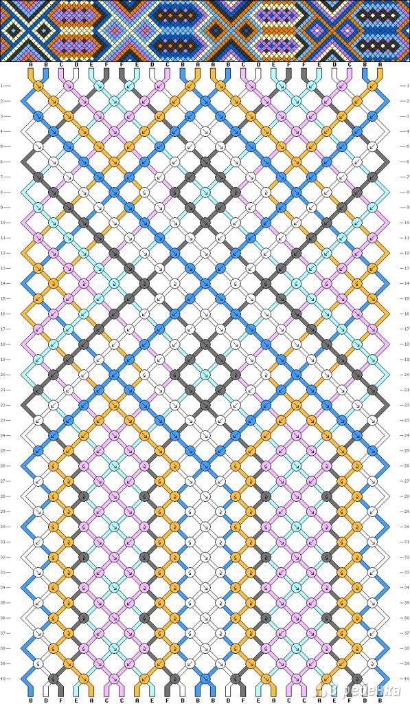 Схема фенечки 2885