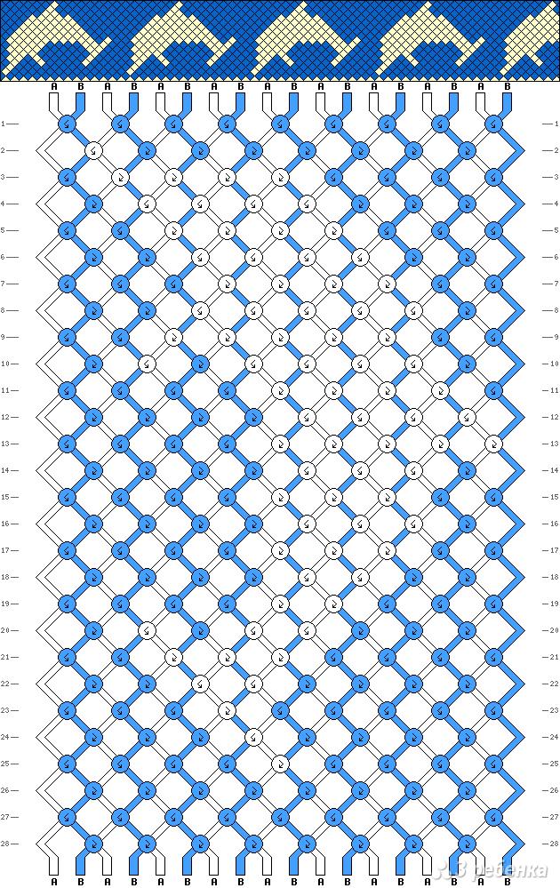 Схема фенечки 3204