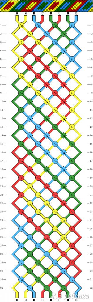 Схема фенечки 3344