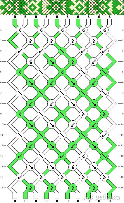 Схема фенечки 3164
