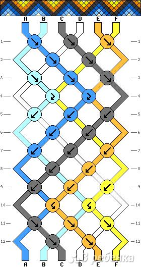 Схема фенечки 3140