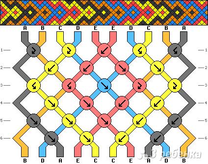 Схема фенечки 3054
