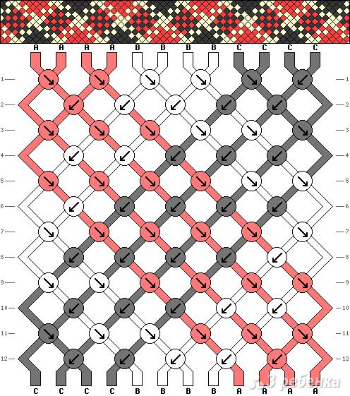 Схема фенечки 3087