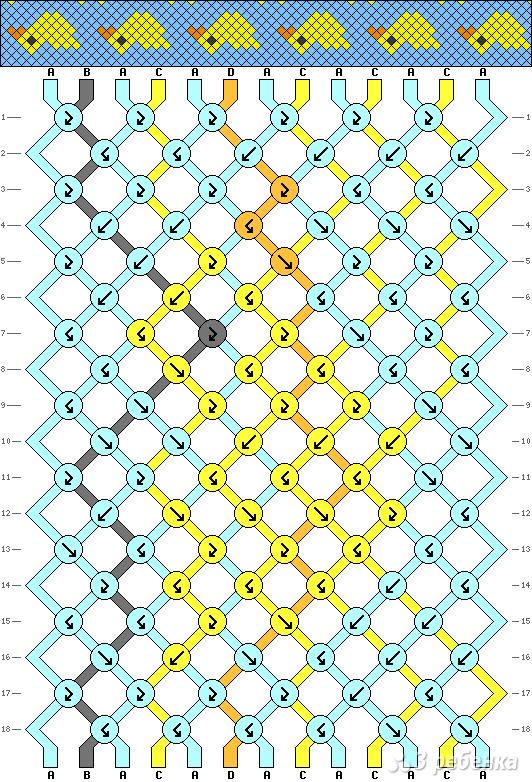 Схема фенечки 2810