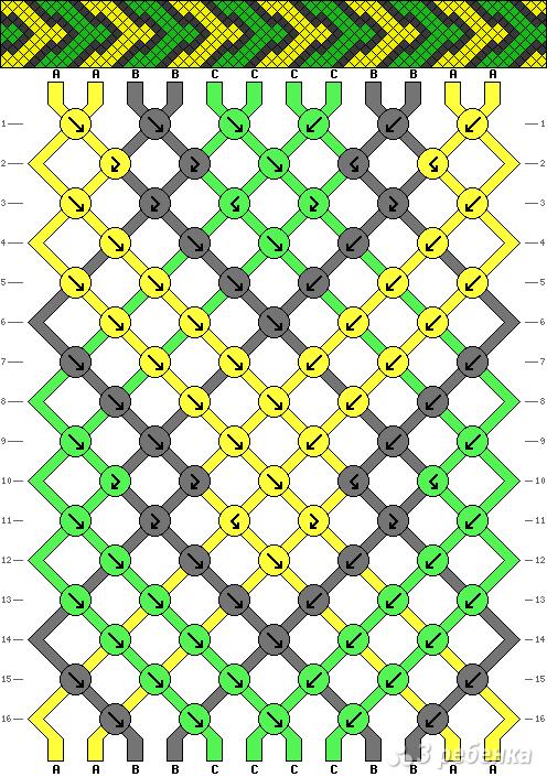 Схема фенечки 2794
