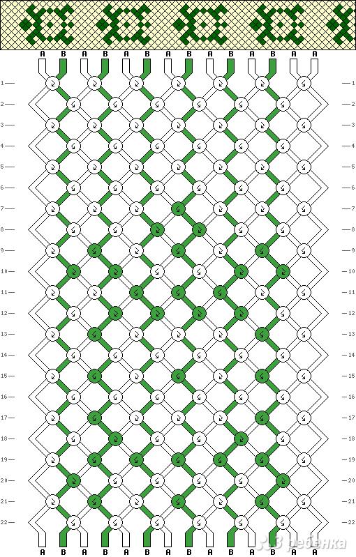 Схема фенечки 3116