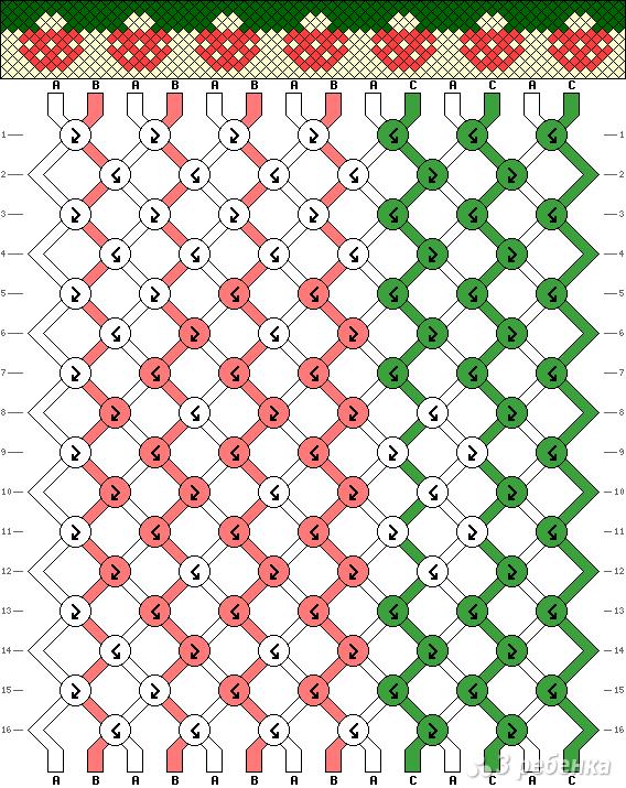 Схема фенечки 3311