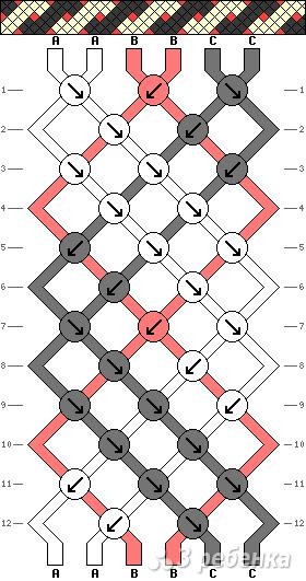 Схема фенечки 3013
