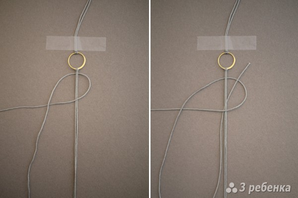 плетем фенечку макраме