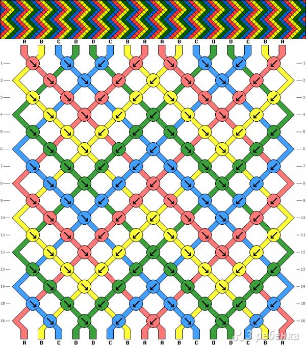 Схема фенечки 3671