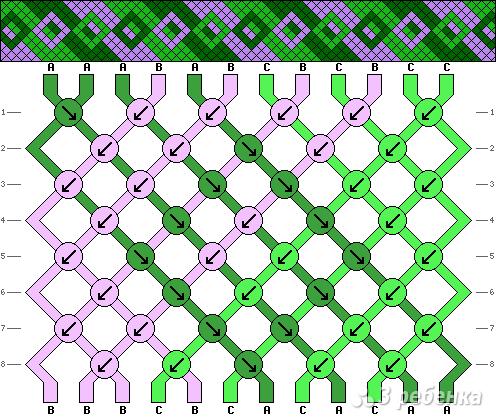 Схема фенечки 3656