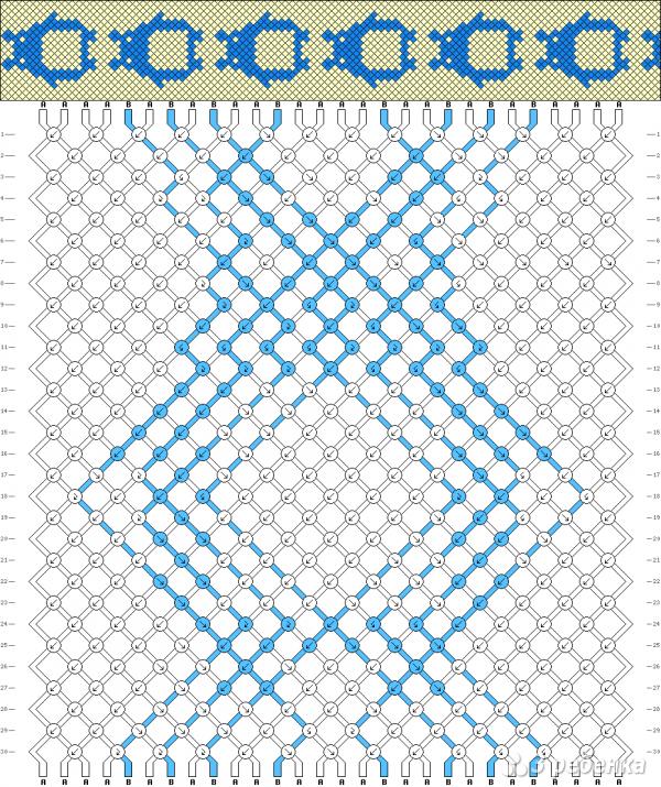 Схема фенечки 3808