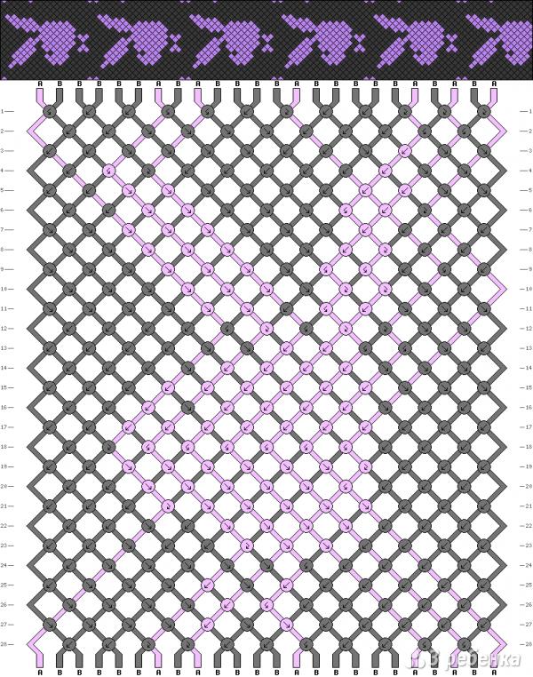Схема фенечки 3611
