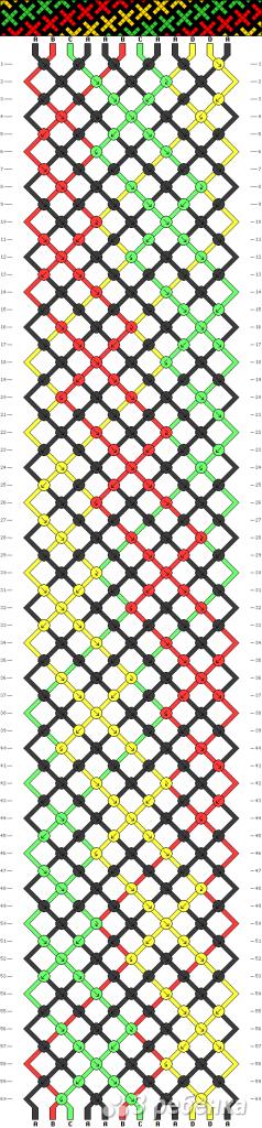 Схема фенечки 3580