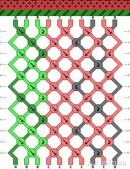 Схема фенечки 3942